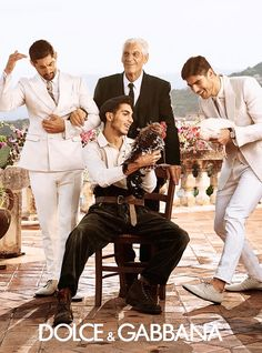 Dolce & Gabbana SS 2014 campaign shot by Domenico Dolce l #fashion #menswear