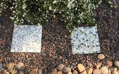 How to Make Your Own Garden Stepping Stones (easy).. starts with a pre-made plain stepping stone.............