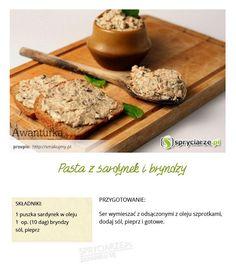 Przepis na pastę z sardynek i bryndzy