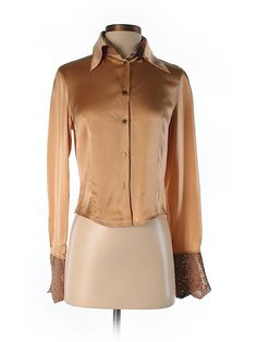Check it out—Roberto Cavalli Long Sleeve Silk Top for $97.99 at thredUP!