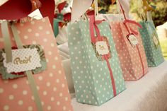 Vintage Pinwheel favor bags - Pinwheel Party - Kara's Party Ideas - The Place for All Things Party