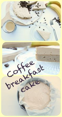 Healthy breakfast cake with coffee flavour.