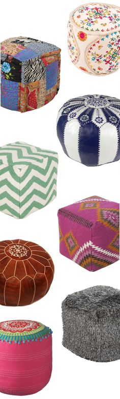 Cushions & Poufs | Up to 60% Off at dotandbo.com- something like this, but a cheaper version