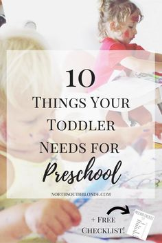 10 Things Your Toddler Needs for Preschool Free Checklist. Preschool First Day, Free Preschool, Toddler Preschool, Toddler Activities, Parenting Toddlers, Parenting Advice, Mom Advice, Preschool Checklist, Toddler Routine