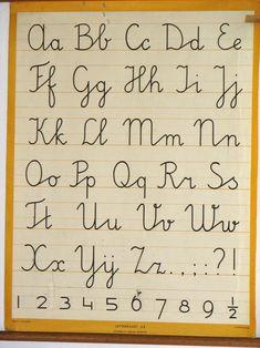 Schoonschrijven werd dit leerproces genoemd in mijn schooltijd. Old School House, Back 2 School, Hand Lettering Fonts, Lettering Design, Sweet Memories, Childhood Memories, Graphic Design Letters, Journal Fonts, Learn Calligraphy