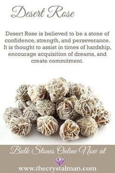Desert Rose ~ Confidence-Strength-Perseverance-Hardship-Dreams-Commitment Shop new raw stones online now at The Crystal Man! Desert Rose ~ Confidence-Strength-Perseverance-Hardship-Dreams-Commitment Shop new raw stones online now at The Crystal Man! Crystal Healing Stones, Crystal Magic, Stones And Crystals, Gem Stones, Quartz Crystal, Minerals And Gemstones, Crystals Minerals, Desert Rose Crystal, Meditation Crystals