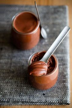 The Best Chocolate Mousse  ( just chocolate & water )  http://cafefernando.com/the-best-chocolate-mousse-of-your-life-under-5-minutes/