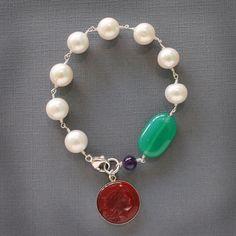 St. Simons Freshwater Pearl Bracelet. #bracelets #fashion  9thelm.com
