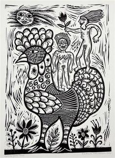 Vintage Embroidery, Embroidery Patterns, Decoupage Art, Chicken Breeds, Linocut Prints, Wild Birds, Magazine Art, Bird Watching, Art Market