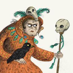 Shaman Corvo leader of the Crow Clan.  #voodoo #illustration #characterdrawing #sketchbook #illustrationage #shaman #crow #blackmagic