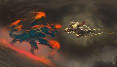 Fist Fight by Lone-Scarab on DeviantArt games Monster Hunter Series, Monster Hunter Art, Monster Art, Monster Hunter World Wallpaper, Monster Drawing, Arte Cyberpunk, Monster Design, Fan Art, Creature Concept