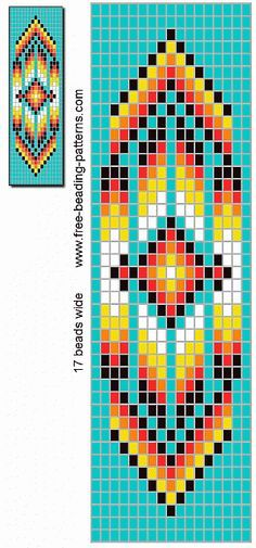 Bilderesultat for Native American Loom Beading Patterns Free Loom Bracelet Patterns, Bead Loom Bracelets, Bead Loom Patterns, Beaded Jewelry Patterns, Beading Jewelry, Stitch Patterns, Weaving Patterns, Jewelry Bracelets, Loom Bracelets