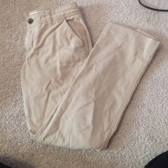 "Old navy khakis Inseam: 24.5"". Khaki colored pants from old navy Old Navy Pants"