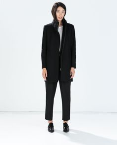DOUBLE COLLAR WOOL COAT from Zara