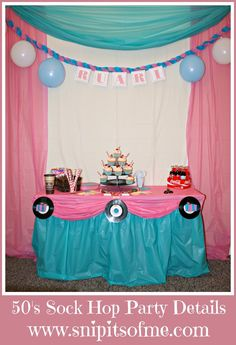 Snip-Its Of Me: Sock Hop Party Theme Part Two