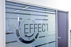 Frosted glass signage
