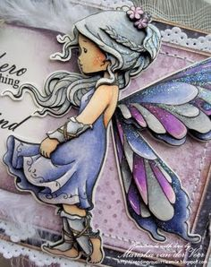 Sending you a little smile :): Silver Fairy by Sylvia Zet for Wee Stamps and soon Whimsy Stamps!