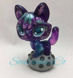 Cute Kawaii Littlest Pet Shop Custom Galaxy Fox with Meteorite