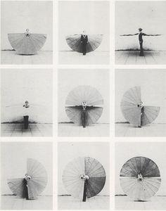 Mechanischer Körperfächer (1972), Rebecca Horn