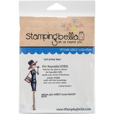 Stamping Bella Cling Stamp 6.5X4.5-Uptown Girl Audrey Loves Her Makeup