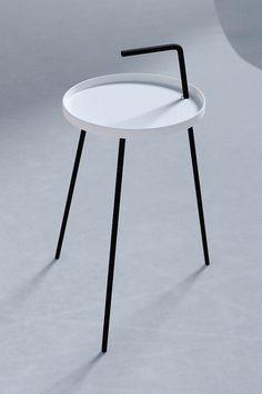 Monochrome bedside table by NORDSOP
