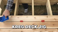 How to Build a Floating Deck Floating Deck Plans, Building A Floating Deck, Kreg Deck Jig, Deck Over Concrete, Freestanding Deck, Trailer Deck, Low Deck, Easy Deck, Laying Decking