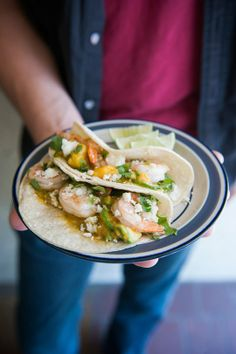 Recipe: Roasted Shrimp Tacos with Mango-Avocado Salsa Recipes from The Kitchn