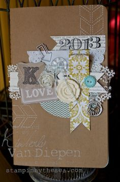 I love the details and clustering on this one. Kimberly Van Diepen, Stampin' Up!
