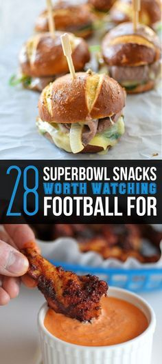 28 Superbowl Snacks Worth Watching Football For
