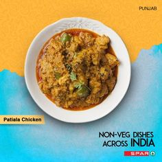 Patiala is not just a famous district in Punjab! Presenting to you one of the most famous #nonveg dishes from #Punjab, Patiala Chicken. Click for the recipe.