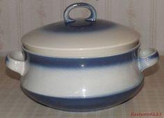 Irish Fine Earthenware Celtic Ennis Blue & White Pot or Tureen w/ Lid #IrishFineEarthenware