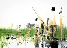 Travel Botswana   Okavango Delta   Travel Africa   Travel Art   Travel Photography   Photography Art   Art Inspiration   Black and White Photography   Documentary Photography   Abstract Art   Art Inspiration   Travel Inspiration   Mixed Media Art   Creative Inspiration