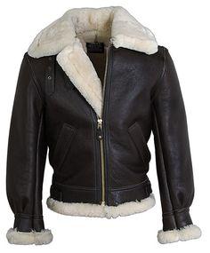 Schott Classic B-3 Sheepskin Leather Bomber Jacket 257S $1090.00
