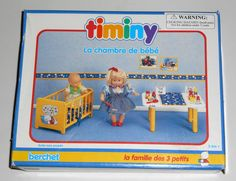 FOR SALE - Baby's Bedroom Timiny Berchet 660002 Doll Furniture La Chambre de Bebe The 3 Little Ones Family 1992