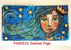 Eleni S Mixed Media Art Journal Page – Pick A Stick Challenge –June 2016 #PASC616