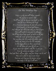 "Wedding Ceremony reading  ""On Your Wedding Day"""