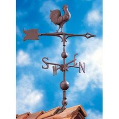 """Whitehall Verdigris 30"""" Full-Bodied Rooster Weathervane - 45148 by Whitehall. $102.89. Include black arrow, mast, directionals, base with ornament and globes. Some assembly required. Home & Garden collection. Color: Verdigris. Made of Recycled Aluminum. 45148 Finish: Verdigris Shown in Rust Features: -Unique gift idea.-Rust proof.-Weather resistant.-Hand cast.-Hand painted.-Manufactured from 100pct recycled aluminum."""