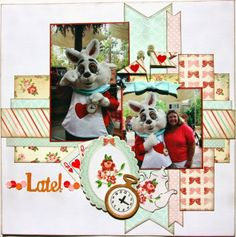 Plays Well With Paper: Late! Design Team layout for Craft Envy Carta Bella Baby Mine Tim Holtz Sizzix Alterations pocket watch