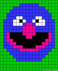 Grover Sesame Street perler bead pattern Beaded Cross Stitch, Cross Stitch Patterns, Cross Stitch Calculator, Elmo And Friends, Safety Pin Crafts, Sesame Street Muppets, Pearler Bead Patterns, Graph Design, Melting Beads