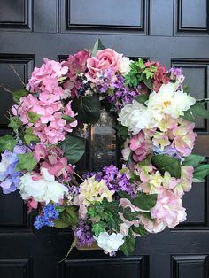 Spring WreathSummer WreathFront Door WreathHydrangea
