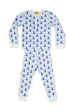 roberta roller rabbit kids' owl pajama set