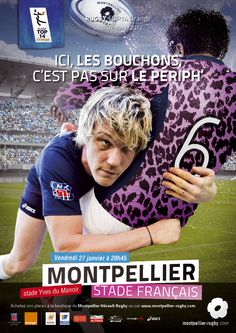 Ici, ici, c'est Montpellier! Rugby, France, Stade Francais, The Mansion, Posters, Rugby Sport, French Resources