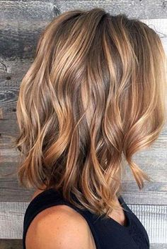 Caramel Balayage Highlights for Brown Hair Curly Bob Hairstyles Balayage brown Caramel hair highlights Brown Hair With Highlights, Hair Color Highlights, Hair Color Balayage, Brown Hair Colors, Blonde Color, Brown Balayage, Caramel Balayage, Blonde Ombre, Blonde Honey