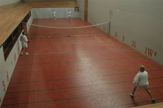 Cope Williams (Australia) : a private real tennis court in the middle of a winery estate ! Real Tennis, Basketball Court, Middle, Australia, Games, Sports, Tennis, Gaming, Plays