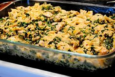 Spinach and Artichoke Chicken Casserole - did not use shallots and used pre-made bread crumbs, was a bit bland. Would make again following the recipe and perhaps adding more spice.