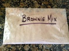 Make Your Own Brownie Mix - 5 ingredients, 5 minutes and fabulously frugal