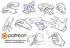 Hands reference sheet 6 by Kibbitzer.deviantart.com on @DeviantArt