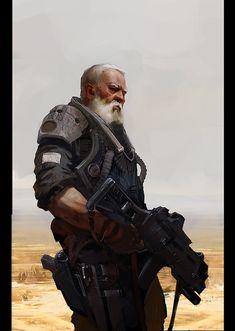 Reminds me of Gabriel - Old Man by Alexander Ovchinnikov