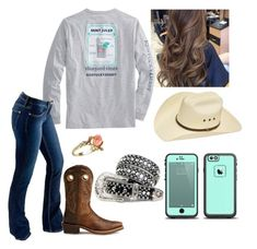 Designer Clothes, Shoes & Bags for Women Cute Cowgirl Outfits, Western Outfits Women, Country Style Outfits, Southern Outfits, Country Wear, Country Fashion, Cute Casual Outfits, Simple Outfits, Stylish Outfits