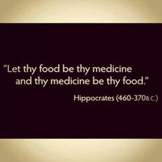 Healthy whole organic food is medicine